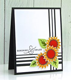 Sunshine & Smiles Card by Michelle Leone for Papertrey Ink (August 2017)