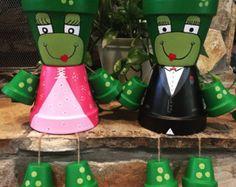 Polka Dot Flower Pot Girl/ flower pot/ indoor di ShadyPenguins