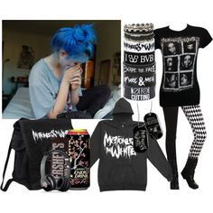 """""""Untitled #92"""" by poisonxxbite on Polyvore wish I had the courage to do colors like this In my hair"""