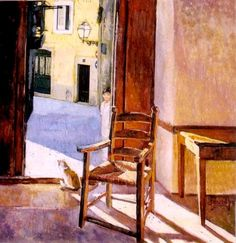 Rocking Chair, Greece, Image, Athens, Painters, Window, Home Decor, Twitter, I Love Cats