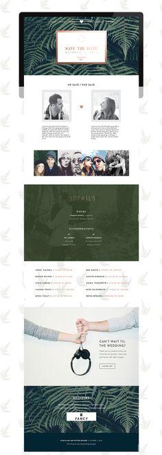 Woodland wedding website /// web design