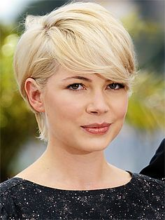 Michelle Williams pixie...I really want to cut my hair again.