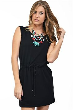 Rae Tunic Dress- Black at Blush Boutique Miami - ShopBlush.com