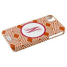 Custom iPhone Case in Orange Diamond