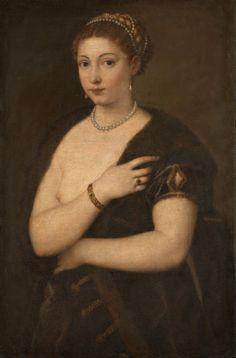 Titian, Woman in a Fur Coat.1535. Kunsthistorisches Museum, Vienna.