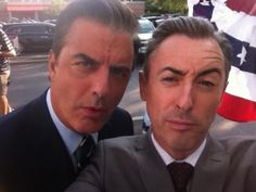 The Good Wife Photos: Alan Cumming Tweets On the Set with Chris Noth on CBS.com