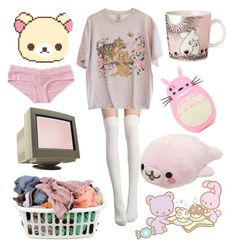 """Lazy Sunday ✨"" by holocene00 ❤ liked on Polyvore featuring Aéropostale, iittala, CO, Laundry, cute, Pink, pastels and ddlg"