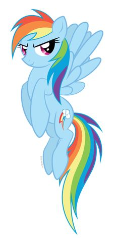 Flying Rainbow Dash