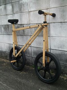 A bicycle made from wooden leg crutches  by TAM DA ( Thai designer )