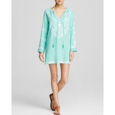 Moon & Meadow Embroidered Tunic (160 CAD) ❤ liked on Polyvore