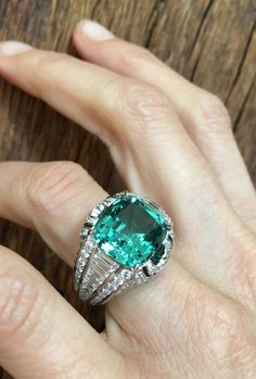 Louis Vuitton 9.78 carat tourmaline and diamond one of a kind Conquêtes ring.