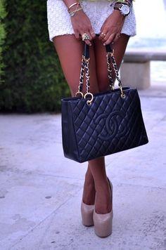 Chanel + Nude Heels <3
