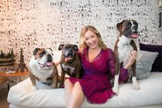 Author, go-getter, animal lover, mom, and wife to actor Yannick Bisson, Shantelle Bisson is a powerhouse. As comfortable in Louboutin stilettos as she is in sneakers, Shantelle has a bright, colorful personality and a welcoming presence. Fittingly, her dogs have big personalities, too! We were delighted to drop in on her and the three boys at their Toronto home just before the holidays to see how she keeps a busy, split-city life together with grace and humor.