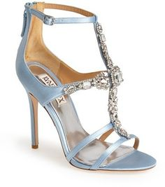 $225, Giovanna Ii Satin Ankle Strap Sandal by Badgley Mischka. Sold by Nordstrom. Click for more info: http://lookastic.com/women/shop_items/133535/redirect