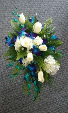 Another beautiful wedding at Tropical Interiors Florist - Blue Bom Orchids