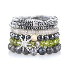 beaded bracelets by sisco berluti
