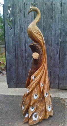 Купить Парковая деревянная скульптура - скульптура, дерево, дача, Парковая скульптура, детская площадка, медведь