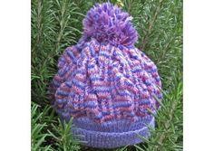 a pretty beanie in soft 2ply wool