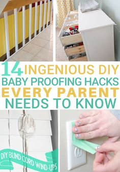 14 Ingenious DIY Baby Proofing Home Hacks Every Parent Needs to Know | For parents, expecting the arrival of a baby means making a lot of preparations. There's the purchasing of clothes, setting up the nursery, and of course, baby proofing the house. Baby stuff is expensive. And baby proof items are no different. Luckily, I've got your entire house covered with these 14 ingenious DIY baby-proofing home hacks that are so affordable | Baby Proofing | New Parents Hacks | Baby Hacks | Save Money