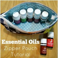 Protect your essential oils-- use this zipper pouch tutorial with elastic holders for the bottles. Great for carrying your oils with you. Holds 8.