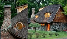 The eye-window on the Storybook Cottage, Rhinebeck, New York - beautiful detailing, such an elegant roof-line.