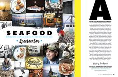 Baltimore Magazine. July 2015. Seafood Spectacular. Photography by Scott Suchman. Food styling by Lisa Cherkasky. Illustration by Heather Hardison.