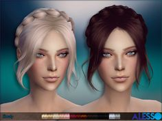 The Sims Resource: Slowly hairstyle by Alesso • Sims 4 Hairs