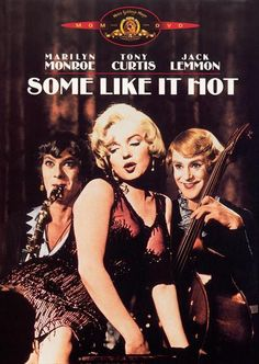 Marilyn Monroe movie poster for the film Some Like It Hot, starring Tony Curtis & Jack Lemmon . Jack Lemmon, Tony Curtis, Some Like It Hot, Classic Movie Posters, Classic Movies, See Movie, Movie Tv, Classic Hollywood, Old Hollywood