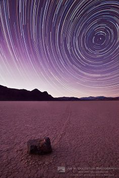 Racetrack Star Trails, Death Valley
