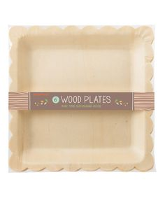 Look at this #zulilyfind! Wood Scallop Plate - Set of 12 by Party Partners #zulilyfinds