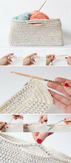 Free pattern: Crochet a cotton basket