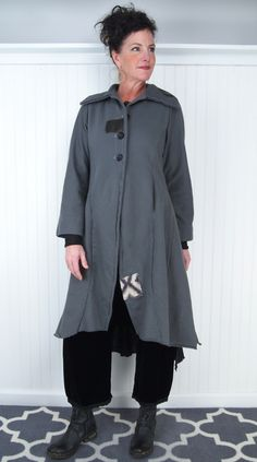 Tina Givens Merle Coat . Example of one of the many style that Tina Givens makes. She also does patterns if your into making your own clothing. You can buy her American made ready to wear clothing from on line stores. Love this coat!