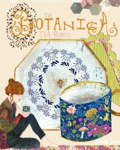 Top 50 Semi Finalist:  Rachel Grant Art Illustrations, Illustration Art, Rachel Grant, Lilla Rogers, Rose Tea, Tea Art, Surface Pattern Design, Teacups, Hygge