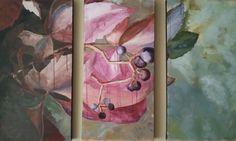Hiedra otoño (tríptico), acrilico sobre lienzo, by MODE