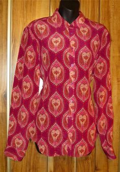 NWT Woman's Joe Fresh Fusia & Pink Floral Silk Long Sleeve Blouse Size Large #TracyPorter #Blouse #Casual Now $19.87