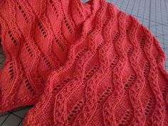 Ravelry: Treillage Lace Scarf and Wrap pattern by Krista Werbil Lace Knitting, Knitting Stitches, Knitting Patterns, Knitting Scarves, Lace Wrap, Wrap Pattern, Lace Scarf, Ravelry, Stitch Patterns