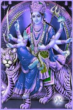 Lord Durga, Durga Kali, Shiva Parvati Images, Durga Images, Indian Gods, Indian Art, Devi Images Hd, Durga Puja Wallpaper, Ganesh Idol