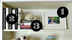7 steps to styling bookshelves