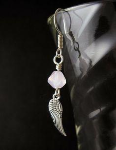 2012 Breast Cancer Awareness Earrings | sadiesbeads - Jewelry on ArtFire