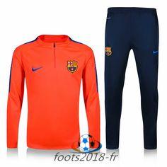 Nouveau Survetement de foot FC Barcelone Orange 2016 2017