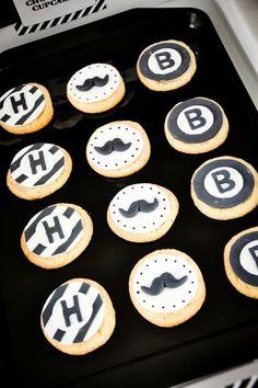 Mustache cookies