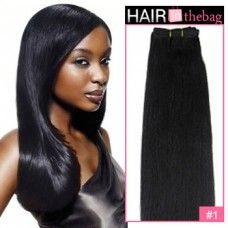 """Jet Black(#1) Straight 10""""-30"""" 100g Indian Remy Hair Wefts $44.99 $179.96"""