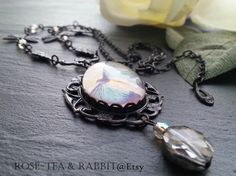 Blue Butterfly Cabochon Pendant Necklace  by RoseTeaAndRabbit https://www.etsy.com/uk/listing/224916930/blue-butterfly-cabochon-pendant-necklace