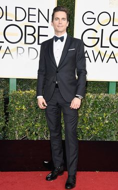 Matt Bomer in Armani at the 74th Annual Golden Globe Awards at The Beverly Hilton Hotel on January 8, 2017 in Beverly Hills, California.