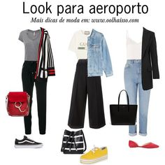 Style Casual, Casual Looks, Casual Outfits, Cute Outfits, Fashion Outfits, My Style, Womens Fashion, Body Type Clothes, Airplane Outfits