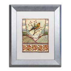 Rachel Paxton 'Tisbury Bird' Matted Framed Art