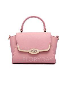 Shoulder Totes Fashion PU Pink Small Bags (1012605) @ floryday.com