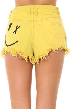 Bitching & Junkfood  The Laguna Bitchy Shorts in Yellow    $138.00  $ Converter