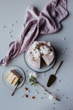 Our Food Stories // glutenfree rhubarb-raspberry cake