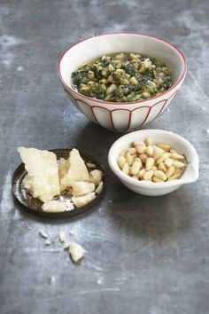 "RECIPE: ""Leak, Pesto and Ricotta Pie"" & ""Chunky  Pesto"" by Paul Lowe of Sweet Paul (website). Site: http://sweetpaul.typepad.com/my_weblog/2008/10/recipe-monday.html. Photographer: Ellen Silverman"